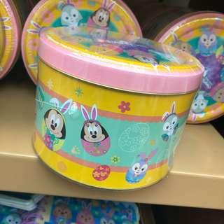香港迪士尼2018復活節限定Duffy & friends春日主題罐裝碎朱古力曲奇🍪連