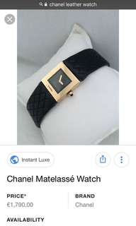 Chanel watch authentic $14000