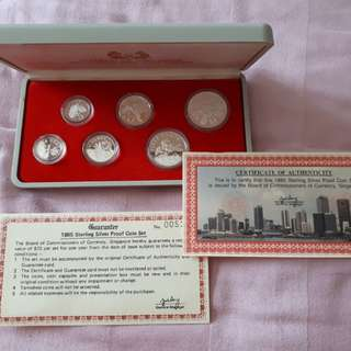 1985 Singapore Mint Silver Proof Coin Set