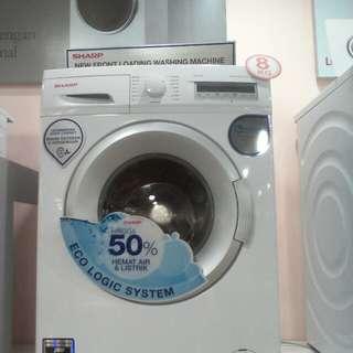 Cicilan mesin cuci SHARP tanpa kartu kredit proses cepat 3 menit lg promo 0% 6x