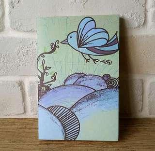 blue humming bird poetic notebook