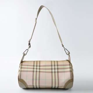 AUTHENTIC BURBERRY SIGNATURE CHECKERED DESIGN SMALL SHOULDER BAG