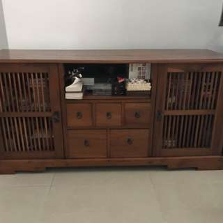 Antique tv console-teakwood