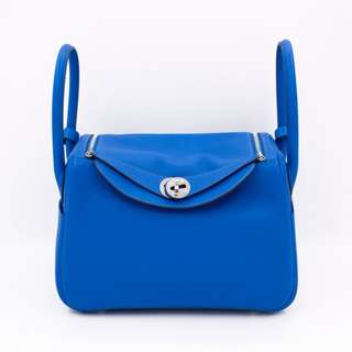 (NEW) Hermes LINDY EVERCOLOR 26 SHOULDER BAG PHW, BLUE HYDRA / CKT7 全新 手袋 藍色 銀扣