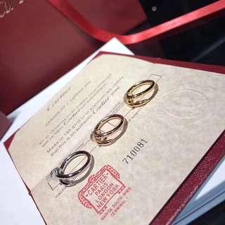 面交 Cartier 卡地亞 釘子介子   金色 銀色 玫瑰金  情侶款