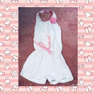 Backless Baby Pink Romper