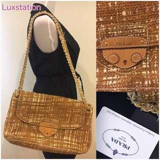 ♥️ Prada Maxi Tweed Chain Shoulder Bag ♥️