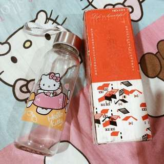 Hello Kitty Glass bottle