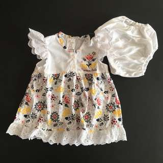 228-0005 Baby Girl Floral Dress