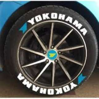 LETTERING CAR TYRE