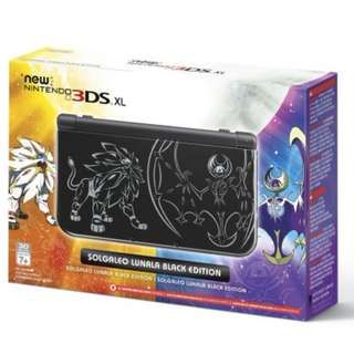 3DS XL Limited Solgaleo and Lunala Black Edition Bundle