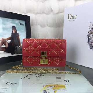 Dior 小羊皮 Addict鉚釘款 19cm