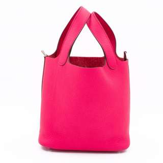 (NEW)Hermes H056289 PICOTIN LOCK PM TAURILLON CLEMENCE 18 TOTE BAG PHW, ROSE EXTREME / CKI6 全新 手袋 桃紅色 銀扣
