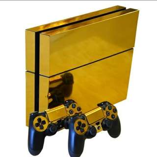 PS4 Vinyl protector mettalic Decal