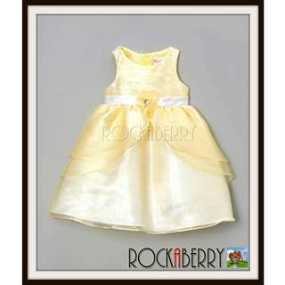 Nannette Yellow Petals Baby Dress