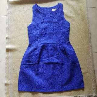 Dress biru blue bagus