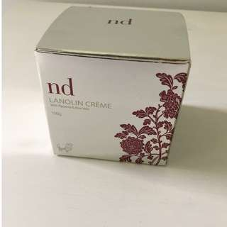 BRAND NEW ND LANOLIN CRÈME WITH PLACENTA & ALOE VERA 100g