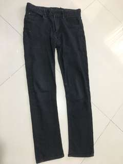 H & M skinny black faded jeans