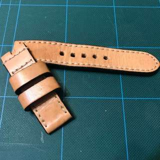 Strap culture 真皮錶帶 24mm 復古錶帶 panerai用