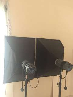 2 Pcs softbox for sale. Suitable for brand Nice Foto lighting