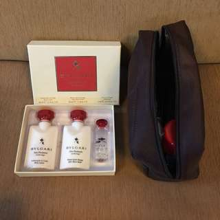 Emirates/Bulgari cosmetics pouch