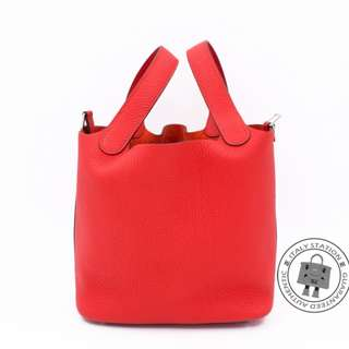 (NEW) Hermes PICOTIN LOCK PM TAURILLON CLEMENCE 18 TOTE BAG PHW, ROUGE TOMATE / CKS5 全新 手袋 紅色 銀扣