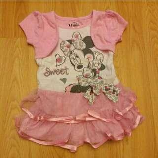 全新Disney Minnie米妮 女童連身裙