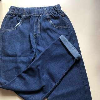 dark denim joggers jeans pants