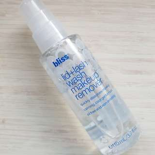 Bliss lid+lash wash makeup remover
