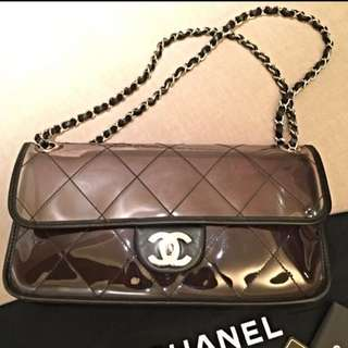 透明 Chanel Purple See Through Bag