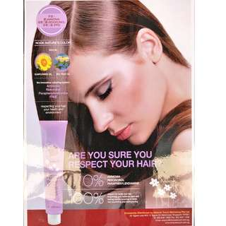 Product from Italy-Ammonia Free Hair Coloring