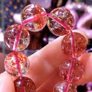 🆕天然水晶收藏級極品金橙紅超級七super seven 12mm crystal