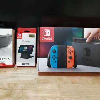 Nintendo switch complete with accs.