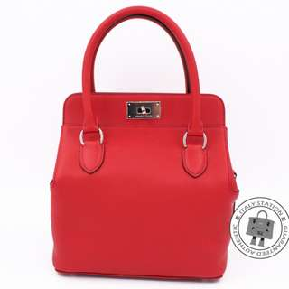 (NEW) Hermes H062206 TOOLBOX SWIFT 20 TOTE BAG PHW, VERMILLON / CK5E 全新 手袋 紅色 銀扣