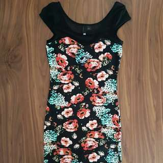 H&M Flower Bodycon Dress