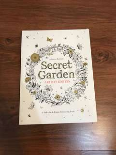 Johanna Basford Secret Garden colouring book artists edition brand new