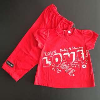 228-0002 Girl Cute Set Wear