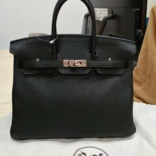 Hermes birkin 25 in black