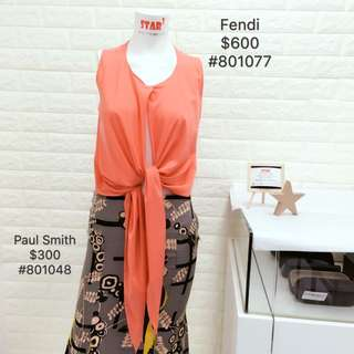 Fendi Top + Paul Smith skirt