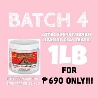 Aztec Secret Indian Healing Clay Mask 1LB