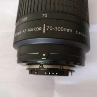 Nikkor 70-300mm 1:4-5.6 G AF Nikon full frame lens
