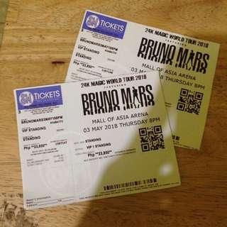 Bruno Mars 24K Magic Manila concert (2 VIP 1 standing tickets)