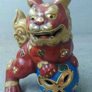 🚚 日本老件 九谷小獅子