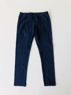 Girl's Navy Blue Leggings