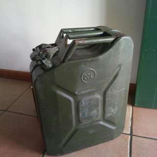 Vintage Metal Jerry Can