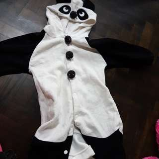Size 95- Panda Bear Jumpsuit (for cooling place)