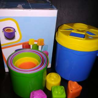 Shape Sorting Stack n' Nest Buckets