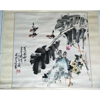 Chinese painting, 中国画蕉园和风
