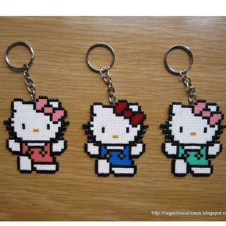 Hello Kitty Keychain Hama bead designs