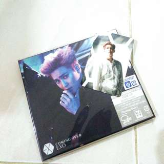 EXO SUHO COMING OVER ALBUM+PHOTOCARD+GIFT